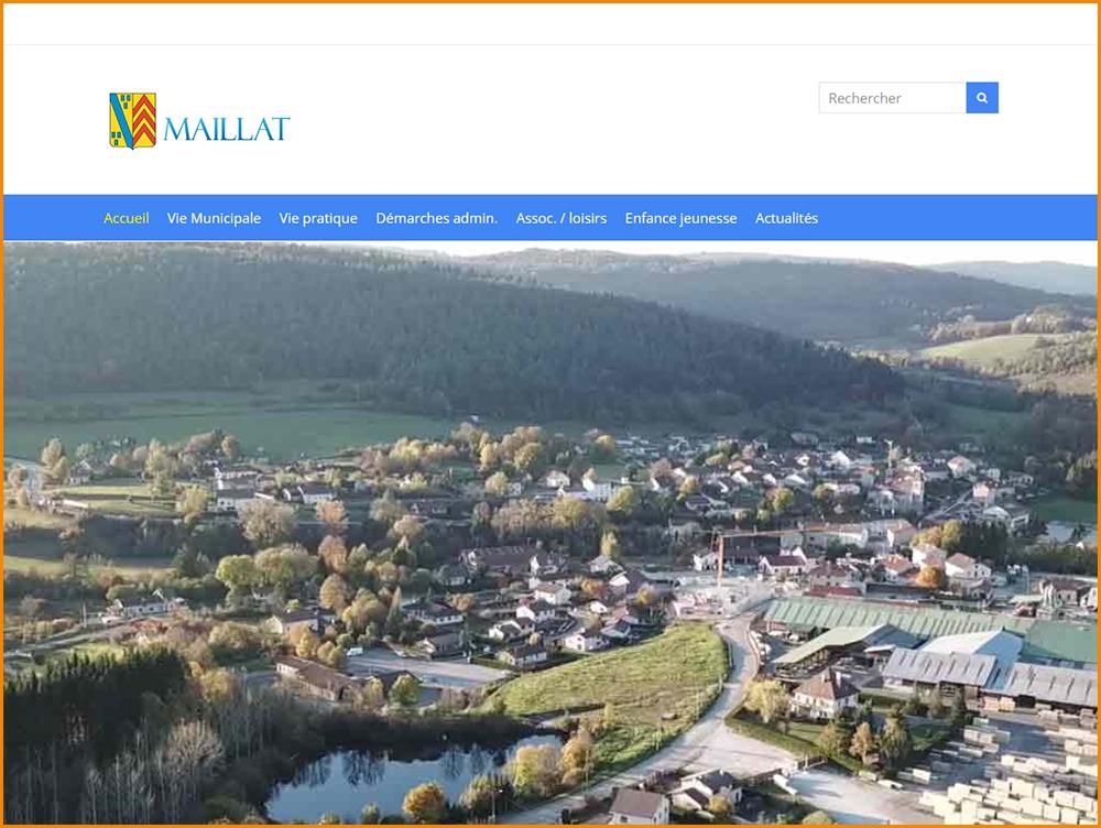 Réalisation du site web de la commune de Maillat