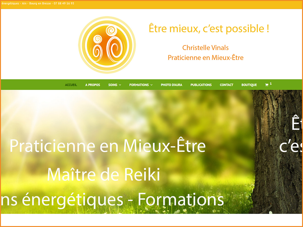 Réalisation du site web de Christelle Vinals